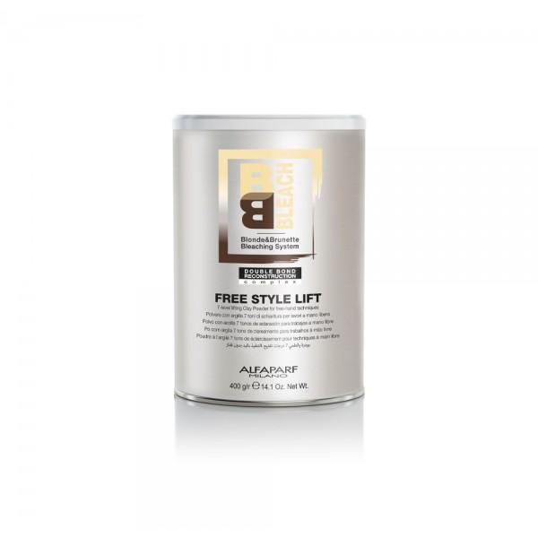 Alfaparf BB Bleach Free Style Lift szőkítőpor szabadkezes technikához, 400 g