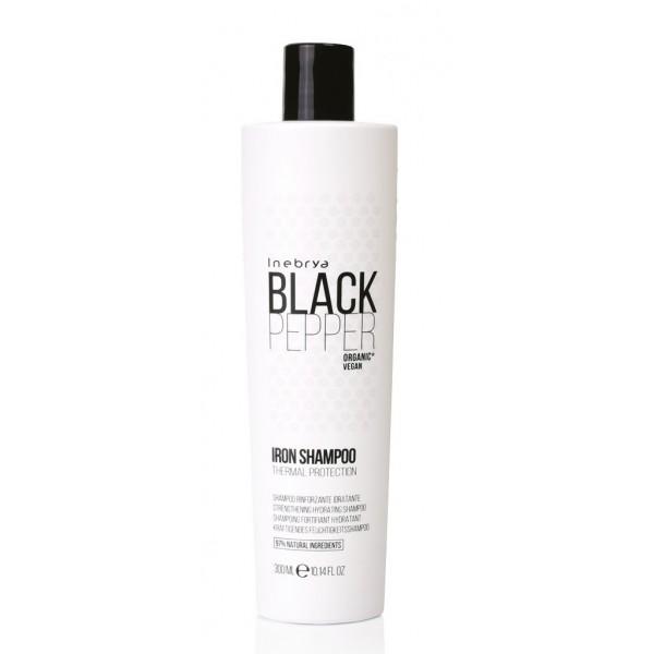 Inebrya Black Pepper Iron hajegyenesítő, hővédő sampon, 300 ml