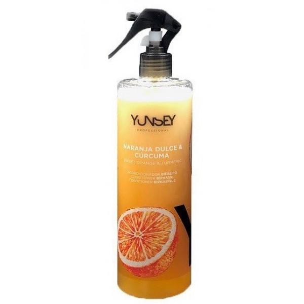 Yunsey Vigorance édes narancs és kurkuma kétfázisú kifésülőbalzsam, 500 ml