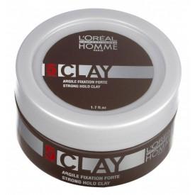 Loreal Professionel Homme Clay extra erős tartású wax matt hatással, 50 ml