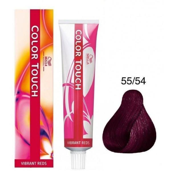 Wella Color Touch Vibrant Red intenzív vörös hajszínező 55/54